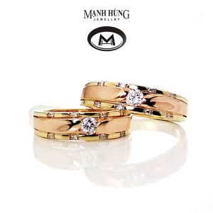 Nhẫn cưới cao cấp vàng 18K