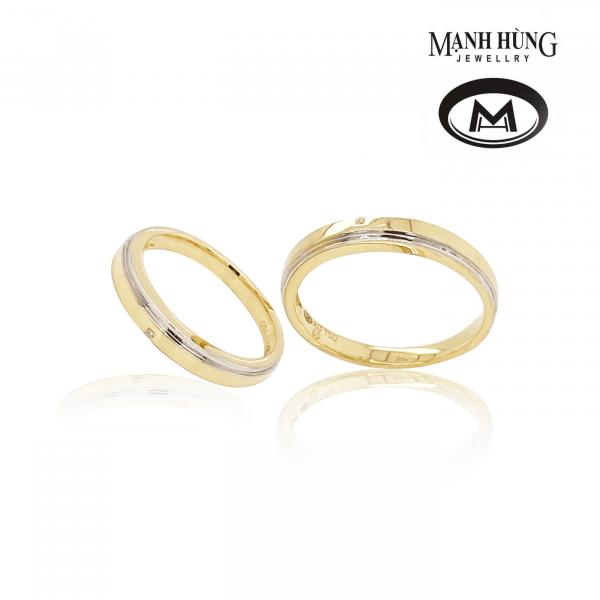 Nhẫn cưới chung đôi vàng Ý cao cấp