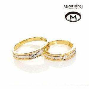 Nhẫn cưới gắn đá sang trọng