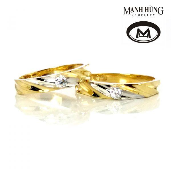 nhẫn cưới Korea vàng 18k