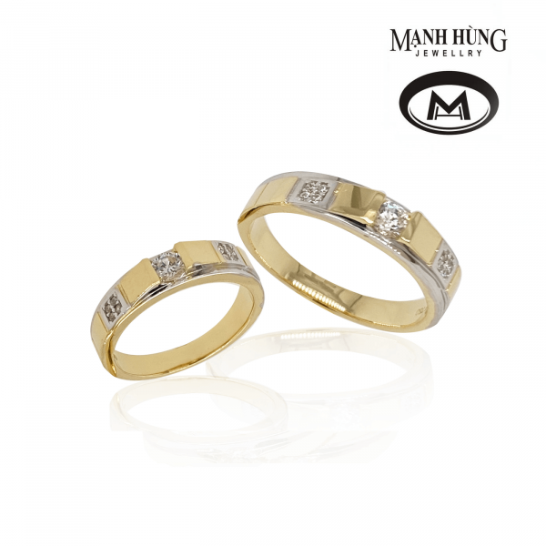 Nhẫn cưới vàng 18k sang trọng