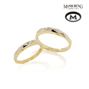 Nhẫn cưới vàng 18k tinh xảo