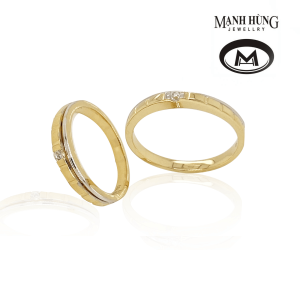Nhẫn cưới vàng750 sang trọng