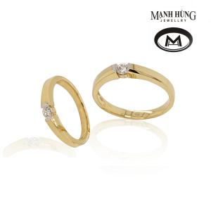 Nhẫn cưới vàng 750 thời trang