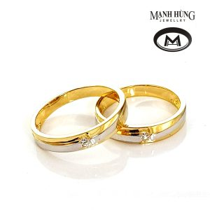 Nhẫn cưới vàng Ý cao cấp