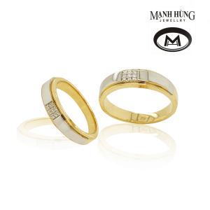 Nhẫn cưới vàng tây 18k thanh lịch