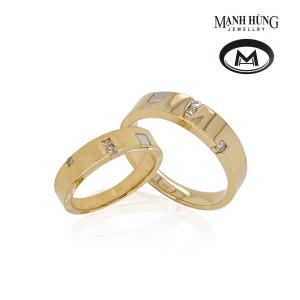 Nhẫn cưới vàng ý 18k sang trọng