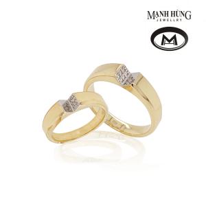 Nhẫn cưới vàng Ý 18k thanh lịch
