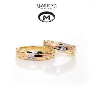 Nhẫn cưới vàng Ý nhập khẩu