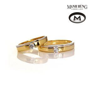 Nhẫn cưới vàng ý tinh tế