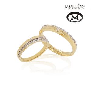 nhẫn cưới vàng Ý tinh xảo